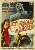 "Movie Posters:Fantasy, The 7th Voyage of Sinbad (Columbia, 1958). Italian Poster (39"" X 27.5"")...."