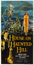 "Movie Posters:Horror, House on Haunted Hill (Allied Artists, 1959). Three Sheet (41"" X81"")...."