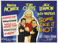"Movie Posters:Comedy, Some Like It Hot (United Artists, 1959). British Quad (30"" X40"")...."