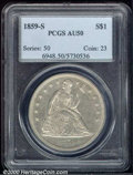 Seated Dollars: , 1859-S S$1