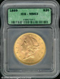 Additional Certified Coins: , 1889 $20