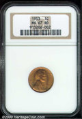 Lincoln Cents: , 1953 1C, RD