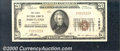 National Bank Notes:Oregon, First National Bank of Portland, OR, Charter #1553. 1929 $20 Ty...