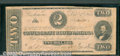 Confederate Notes:1862 Issues, 1862 $2 Judah P. Benjamin, T-54, VG. You may bid on this lot us...