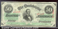 Confederate Notes:1863 Issues, 1863 $50 Black with green overprint; Jefferson Davis, T-57, Cho...