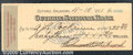 Miscellaneous:Checks, This check was drawn on Ferdinand Ritterbusch, County Treasurer...