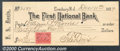 Miscellaneous:Checks, This check was drawn on F. S. Davis and the account was held at...