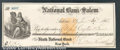 Miscellaneous:Checks, This check is dated November 30, 1868 and was drawn on the Firs...