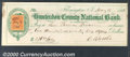 Miscellaneous:Checks, A check drawn on the Hunterdon County National Bank of Flemingt...