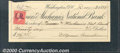 Miscellaneous:Checks, A check issued from the Farmers and Mechanics National Bank on ...