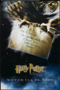 """Movie Posters:Fantasy, Harry Potter and the Sorcerer's Stone (Warner Brothers, 2001). One Sheet (27"""" X 40"""") DS Advance. Fantasy...."""