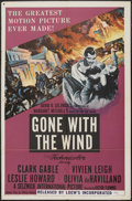 "Movie Posters:Academy Award Winner, Gone with the Wind (MGM, R-1954). One Sheet (27"" X 41""). Academy Award Winner...."