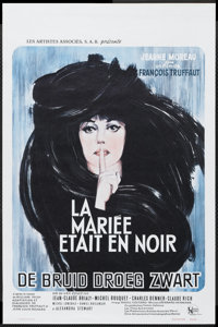 "The Bride Wore Black (United Artists, 1968). Belgian (14"" X 21.5""). Mystery"