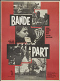 "Movie Posters:Crime, Band of Outsiders (Columbia, 1964). French Petite (23"" X 31"").Crime...."