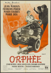 "Orpheus (DisCina, 1950). French Petite (22"" X 31.5""). Fantasy"