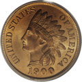 Indian Cents: , 1900 1C MS66 Red PCGS. The 1900 Indian Head cent, with ahigh-mintage business strike count of nearly 67 million pieces,wa...