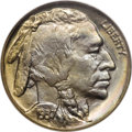 Buffalo Nickels: , 1937 5C MS68 ★ NGC. A sharp strike and exceptional toningcharacterize this magnificent nicke...