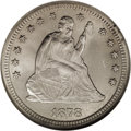 Seated Quarters: , 1878-CC 25C MS65 NGC. This coin appears to be from a reverse diethat is unlisted in Briggs' 1991 Comprehensive Encyclope...