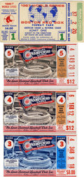Baseball Collectibles:Tickets, 1967 World Series Ticket Stubs Lot of 4. The 1967 World Series wasa thrilling affair, pitting Carl Yastrzemski's Boston Re...