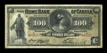 World Paper Money: , Toronto, ON- The Home Bank of Canada $100 March 1, 1917 Ch. #365-10-26. ...