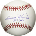 "Autographs:Baseballs, Harmon Killebrew ""573 Home Runs"" Single Signed Baseball. Hall ofFame slugger Harmon Killebrew is one of the lucky few who ..."