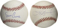 Autographs:Baseballs, Ernie Banks and Sammy Sosa Single Signed Baseballs Lot of 2. Two ofthe most prolific players in the history of the Chicago...