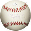 Autographs:Baseballs, Roger Clemens Single Signed Baseball. The Official Major Leaguebaseball that we offer here sports a neat sweet spot signatu...