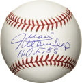 "Autographs:Baseballs, Juan Marichal ""H.O.F. 83"" Single Signed Baseball. The Hall of Famehurler Juan Marichal makes note of his induction date on..."