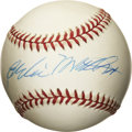 Autographs:Baseballs, Eddie Mathews Single Signed Baseball. Eddie Mathews' longevity inbaseball was such that it allowed him to be a member of t...