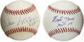 Autographs:Baseballs, Willie McCovey and Monte Irvin Single Signed Baseballs Lot of 2.Brilliant pair of Hall of Fame singles courtesy of two ind...