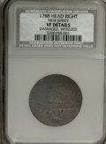 1788 COPPER New Jersey Copper, Head Right--Damaged, Whizzed--NCS. VF Details. NGC Census: (0/0). PCGS Population (5/40)...