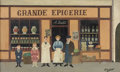 Fine Art - Painting, European:Modern  (1900 1949)  , FERNAND BOILAUGES (French, 1891-1991). Grande Epicerie. Oil on artist's board. 5 x 8-1/2 inches (12.8 x 21.5 cm). Signed...