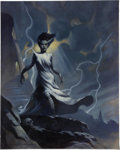 """Original Comic Art:Miscellaneous, Mike Hoffman - """"The Bride"""" Giclee Print on Stretched Canvas(2004).. ..."""