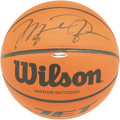 Basketball Collectibles:Balls, 1990's Michael Jordan Single Signed UDA Basketball. Arguably the most significant figure to stride upon the American athlet...