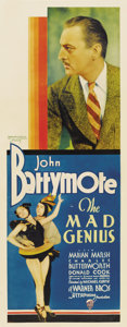 "Movie Posters:Drama, The Mad Genius (Warner Brothers, 1931). Insert (14"" X 36"")...."