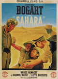 "Movie Posters:War, Sahara (Columbia, 1940s). First Post-War French Grande (47"" X63"")...."