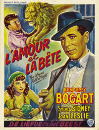 """The Wagons Roll at Night (Warner Brothers, 1940s). First Post-War Belgian (14"""" X 22"""")"""