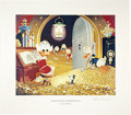"""Original Comic Art:Miscellaneous, Carl Barks - """"Visitor From Underground,"""" Miniature LithographLimited Edition, numbered 4/595 (Another Rainbow, 1991).... (Total:2 Items)"""