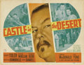 "Movie Posters:Mystery, Castle in the Desert (20th Century Fox, 1942). Title Card and LobbyCard (11"" X 14"").... (Total: 2 Items)"