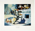"""Original Comic Art:Miscellaneous, Carl Barks - """"A Hot Defense"""" Miniature Lithograph Limited EditionPrint #4/595 (Another Rainbow, 1990).... (Total: 3 Items)"""