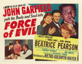 "Movie Posters:Crime, Force of Evil (MGM, 1948). Half Sheet (22"" X 28"") Style A...."