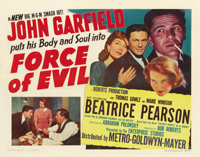 """Force of Evil (MGM, 1948). Half Sheet (22"""" X 28"""") Style A"""