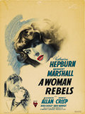 "Movie Posters:Drama, A Woman Rebels (RKO, 1936). Window Card (14"" X 19"")...."