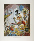 Original Comic Art:Miscellaneous, Carl Barks - First National Bank of Cibola, Regular EditionLithograph, #4/345 (Another Rainbow, 1987).... (Total: 2 Items)