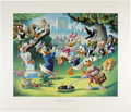Original Comic Art:Miscellaneous, Carl Barks - Holiday in Duckburg, Regular Edition Lithograph,#4/345 (Another Rainbow, 1989)....