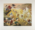 Original Comic Art:Miscellaneous, Carl Barks - Dam Disaster at Money Lake, Regular EditionLithograph, numbered 4/345 (Another Rainbow, 1986).... (Total: 3Items)