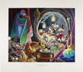"""Original Comic Art:Miscellaneous, Carl Barks - """"Dangerous Discovery,"""" Regular Edition Lithograph,#7/350 (Another Rainbow, 1993).... (Total: 2 Items)"""