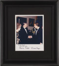 """Movie/TV Memorabilia:Autographs and Signed Items, Ronald and Nancy Reagan Photo for Sid Caesar with AutopenSignatures. A color 8"""" x 10"""" photo of the comedian and television... (Total: 1 Item)"""