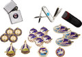 Explorers:Space Exploration, Lot of 19 Items, Including 17 Space Shuttle Medallions,Commemorative Pen Knife and Lighter,... (Total: 19 Items)