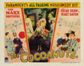 "Movie Posters:Comedy, Cocoanuts (Paramount, 1929). Lobby Card (11"" X 14"")...."